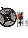 Waterproof 5M 300X3528 SMD RGB LED Strip Light with 44Key Remote Controller (DC12V)