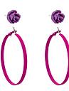 Simple Style Roses Loops  Earrings Set(2 Pairs Per Set)