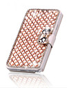 For iPhone 5 Case Card Holder / Rhinestone / with Stand / Flip Case Full Body Case Geometric Pattern Hard PU Leather iPhone SE/5s/5