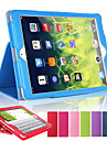 Litchi Soft Artificial Leather Cover With Auto Sleep Wake Up For Apple iPad Air 2 Magnetic Flip Case (Assorted Colors)