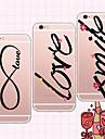 Pour Coque iPhone 6 Coques iPhone 6 Plus Transparente Motif Coque Coque Arriere Coque Mot / Phrase Flexible PUT pouriPhone 7 Plus iPhone