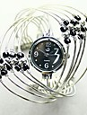 Black beaded bracelet watch interleaving Cool Watches Unique Watches