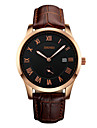Skmei® Men\'s Fashion Multifunction Genuine Leather Watch 30m Waterproof Assorted Colors Wrist Watch Cool Watch Unique Watch