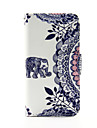 Elephant and Circle Flower PU Leather Wallet Full Body Case for iPod Touch 5/6