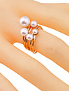 European Style Pearl-Studded  Alloy Ring(6 Pcs)
