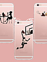 Для Кейс для iPhone 5 Прозрачный Кейс для Задняя крышка Кейс для Композиция с логотипом Apple Мягкий TPU iPhone SE/5s/5