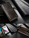 For LG Case Card Holder / Wallet / with Stand / Flip Case Full Body Case Solid Color Hard Genuine Leather LG