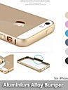 Newest Round Edge Metal Protective Aluminum Alloy Bumper Frame Case For iPhone 5 / 5s - (Assorted Colors)