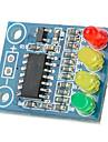 12v 4 Светодиодный индикатор батареи доска - глубокий синий