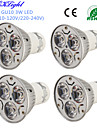 Youoklight® 4pcs gu10 3w 200-250lm 3000 / 6000k branco / quente branco 3-high power led spot bulb - (ac110-120 / 220 ~ 240v)