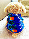Dog Shirt / T-Shirt / Shirt Blue Dog Clothes Summer Vacation Fashion