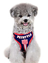 Dog Harness / Leash Adjustable/Retractable / Stripe Red / Blue Textile
