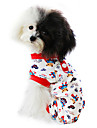 Cat / Dog Clothes/Jumpsuit / Pajamas Red / Blue Dog Clothes Spring/Fall Cartoon Fashion