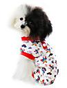 Коты / Собаки Комбинезоны / Пижамы Красный / Синий Одежда для собак Весна/осень Мультфильмы Мода