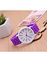 Мужской Женские Унисекс Модные часы Повседневные часы Кварцевый Plastic Группа Черный Белый Синий Красный Зеленый Розовый Фиолетовый