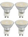 4W GU10 LED-spotlampen Roteerbaar 60 SMD 3528 320 lm Warm wit Decoratief AC 220-240 V 4 stuks