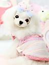 Собаки Плащи Синий / Розовый Одежда для собак Зима Мода