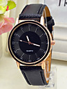 Herren Armbanduhr Quartz Armbanduhren fuer den Alltag Leder Band Schwarz / Weiss / Braun Marke-