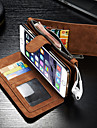 For iPhone 6 Case / iPhone 6 Plus Case Wallet / Card Holder / Flip Case Full Body Case Solid Color Hard PU LeatheriPhone 6s Plus/6 Plus /
