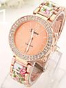 Montre dames du nouveau double diamant alliage acrylique ceramique montre de timbre geneve