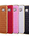 For Samsung Galaxy Case Plating Case Back Cover Case Geometric Pattern PU Leather Samsung S6 edge / S6