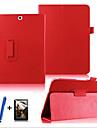 Для со стендом / Флип / Поворот на 360° Кейс для Чехол Кейс для Один цвет Твердый Искусственная кожа Samsung Tab S2 9.7