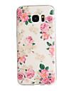 용 Samsung Galaxy S7 Edge 패턴 케이스 뒷면 커버 케이스 꽃장식 TPU Samsung S7 edge / S7 / S6 edge / S6