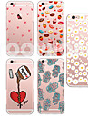 Para Funda iPhone 5 Transparente / Disenos Funda Cubierta Trasera Funda Dibujos Suave TPU iPhone 7 Plus / iPhone 7 / iPhone SE/5s/5