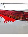 14 * 5cm reflechissants voiture saignements de personnalite autocollants (1pcs)