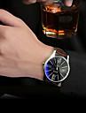 Men\'s YAZOLE Watch Quartz Waterproof Sports Watch Blue Gems Dial Leather Dress Watch(Assorted Color) Wrist Watch Cool Watch Unique Watch