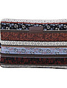 """Sleeve for Macbook 12"""" Macbook Air 11""""/13"""" Macbook Pro 13"""" Bohemian Style Stripes Canvas Material Coffee color stripe Pattern"""