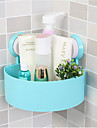 Bathroom Corner Triangle Shelf With Suction Rack Shower Wall Organizer Storage