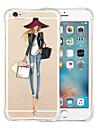 Pour Coque iPhone 6 Coques iPhone 6 Plus Antichoc Transparente Coque Coque Arriere Coque Femme Sexy Flexible Silicone pouriPhone 6s