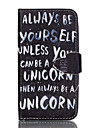 For Samsung Galaxy Case Wallet / Card Holder / with Stand / Flip Case Full Body Case Word / Phrase PU Leather Samsung J5 (2016)