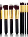 8pcs Conjuntos de pincel Pelo Sintetico Rosto / Labio / Olhos