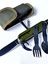 7 in 1 Stainless Steel Multi-function Pocket Knife Fork Spoon Diner Set Multifunction Camping Hunting Tableware Tool