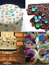 Silicone Fastener 3D Cute Button Shape Candy Chocolate Mold Cookies Mold Cake Decoration Tools