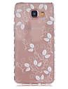 Para Samsung Galaxy Capinhas Transparente / Estampada Capinha Capa Traseira Capinha Flor TPU Samsung A5(2016) / A3(2016)