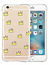 Pour Coque iPhone 6 Coques iPhone 6 Plus Antichoc Transparente Motif Coque Coque Arriere Coque Carreaux Flexible Silicone pouriPhone 6s
