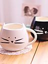 1шт 300мл милый черный и белый кот керамическая чашка личность одной чашки сельских любовные чувства чашки подарки
