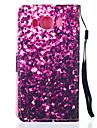 Для Кейс для  Samsung Galaxy Кошелек / Бумажник для карт / со стендом / Флип Кейс для Чехол Кейс для Сияние и блеск Искусственная кожа