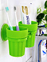 Taza Porta Cepillos de Dientes Inodoro / Banera / Ducha Plastico Multiples Funciones / Viaje / Almacenamiento
