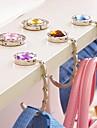 мода горный хрусталь мешок мяч сложенная кошелек держатель мешка металла Hangbag крюк (случайный цвет)