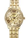 Women\'s Fashion Watch Simulated Diamond Watch Quartz Imitation Diamond Stainless Steel Band Silver Gold Rose Gold