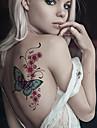 2 Tatuagens Adesivas Series Animal / Serie dos desenhos animados nao toxica / Estampado / Tamanho Grande / A Prova d\'aguaFeminino /