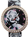 Women's Fashionable  Marilyn Monroe Elastic Deflation Steel Diamond Watch Cool Watches Unique Watches