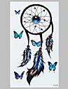 partysu borboleta azul indiano dreamcatcher moda tatuagem impermeavel adesivos