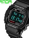 남성 스포츠 시계 손목 시계 디지털 LED 실리콘 밴드 블랙
