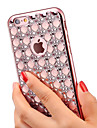 For iPhone X iPhone 8 iPhone 6 iPhone 6 Plus Case Cover Rhinestone Plating Back Cover Case Glitter Shine Soft TPU for iPhone X iPhone 8