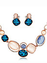 MISSING U Alloy / Rhinestone / Silver Plated / Opal Jewelry Set Necklace/Earrings Party / Daily jewelry Set